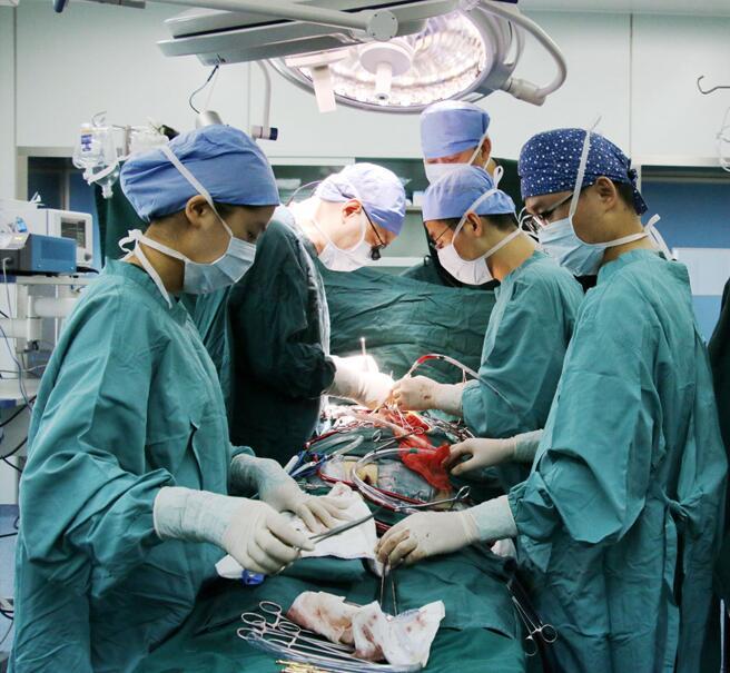 导读:瓣膜病是由于心脏瓣膜狭窄或者关闭不全,影响血流正常流动,造成心脏功能损害。患者常常会有心慌、气短、疲乏、呼吸困难、下肢水肿、食欲不振、活动耐力明显降低、心力衰竭等,心脏瓣膜病显著降低了患者的生活质量,减少了寿命,而外科手术是有效治疗心脏瓣膜病的最佳方式,医生可以通过传统开胸或者微创的手术方式修复或者置换瓣膜,缓解患者的心脏不适。 2017年5月13日,无锡首例微创条件下心脏双瓣置换手术在无锡明慈心血管病医院顺利开展。明慈医院院长兼心脏外科主任杨光教授、心脏外科首席专家乔彬主任强强联手,以小切口微创